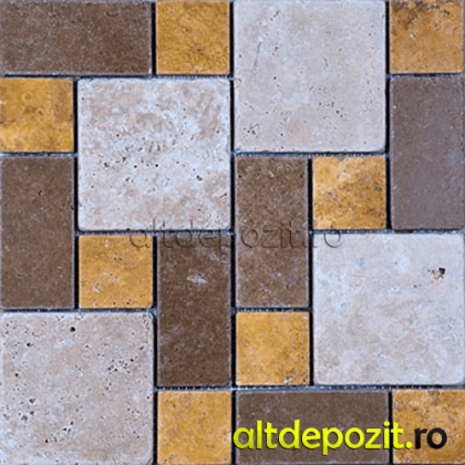 Mozaic Travertin Mix Tumbled Pattern